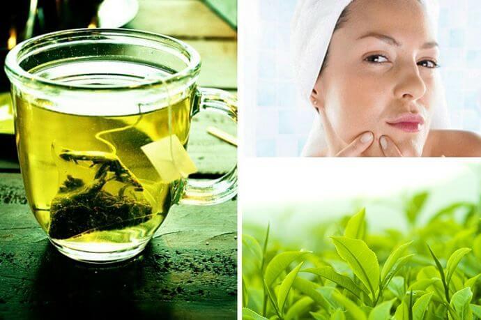 trà xanh trị mụn đơn giản