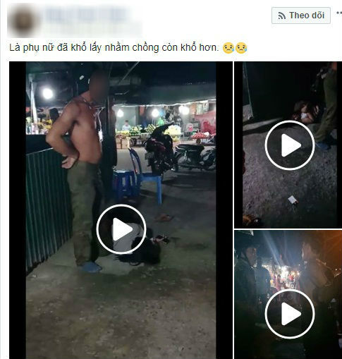 phẫn nộ, người đàn ông đánh vợ rồi chói vợ kéo lê trên đường
