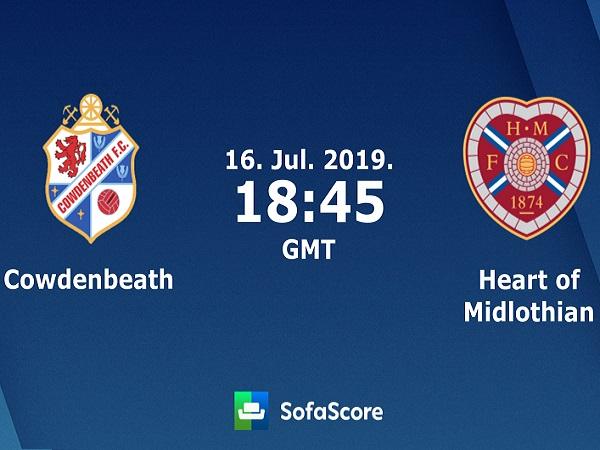 Dự đoán Cowdenbeath vs Hearts, 1h45 ngày 17/07