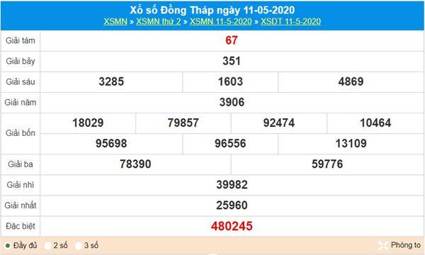 Soi cầu XSDT 18/5/2020 - KQXS Đồng Tháp chuẩn nhất