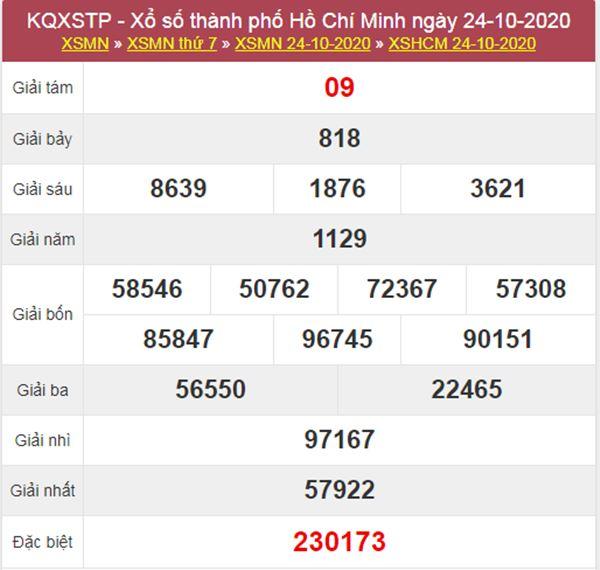 Nhận định KQXS Hồ Chí Minh 26/10/2020 thứ 2 chính xác nhất