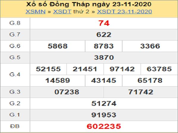 Soi cầu XSDT ngày 30/11/2020- xổ số đồng tháp hôm nay