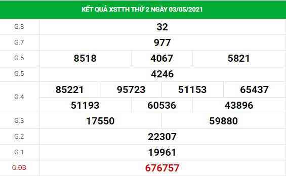 Soi cầu dự đoán XS Thừa Thiên Huế Vip ngày 10/05/2021